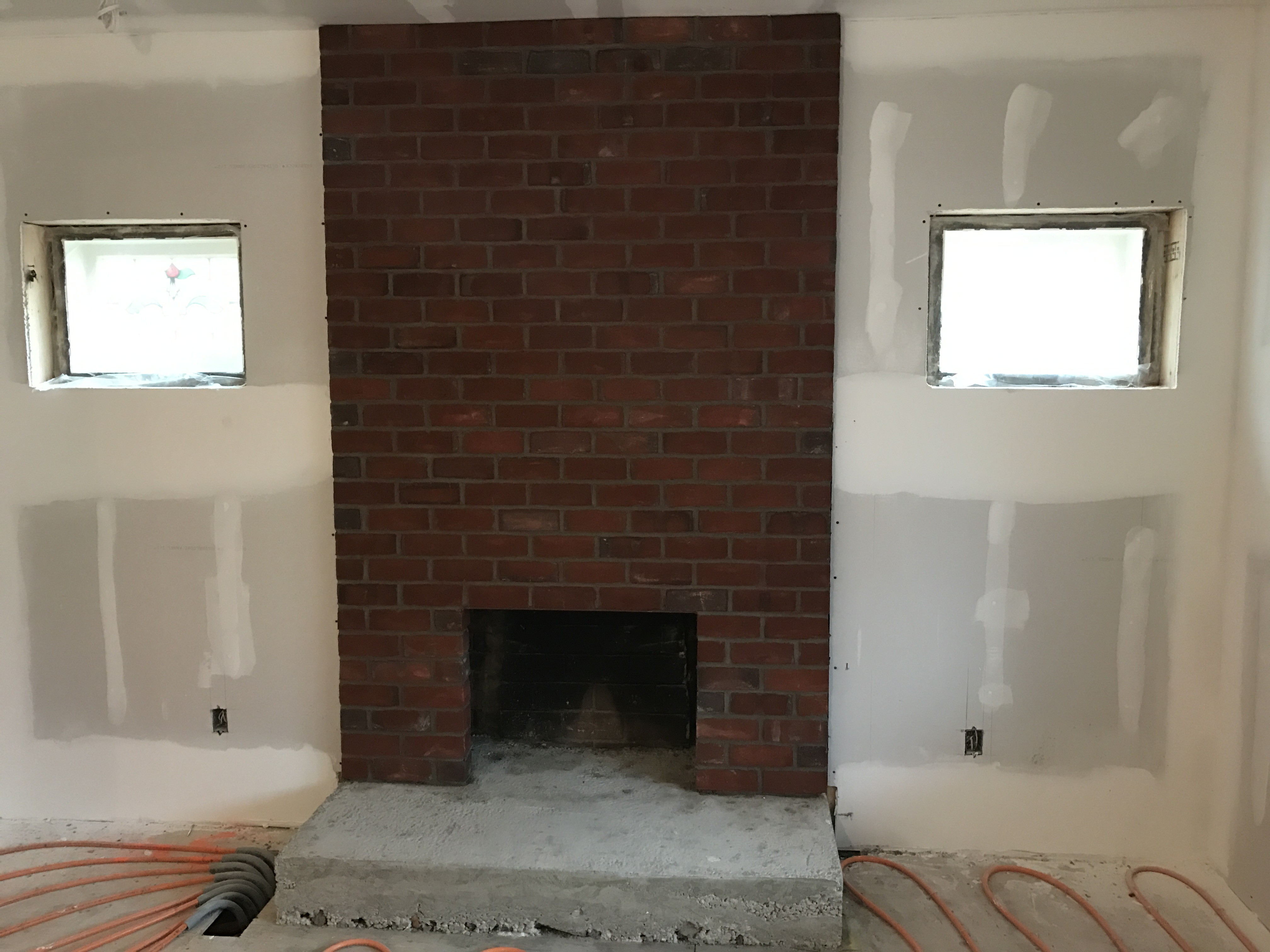 fireplace farmhouse fireplaces youtube warm watch for brick aging look a