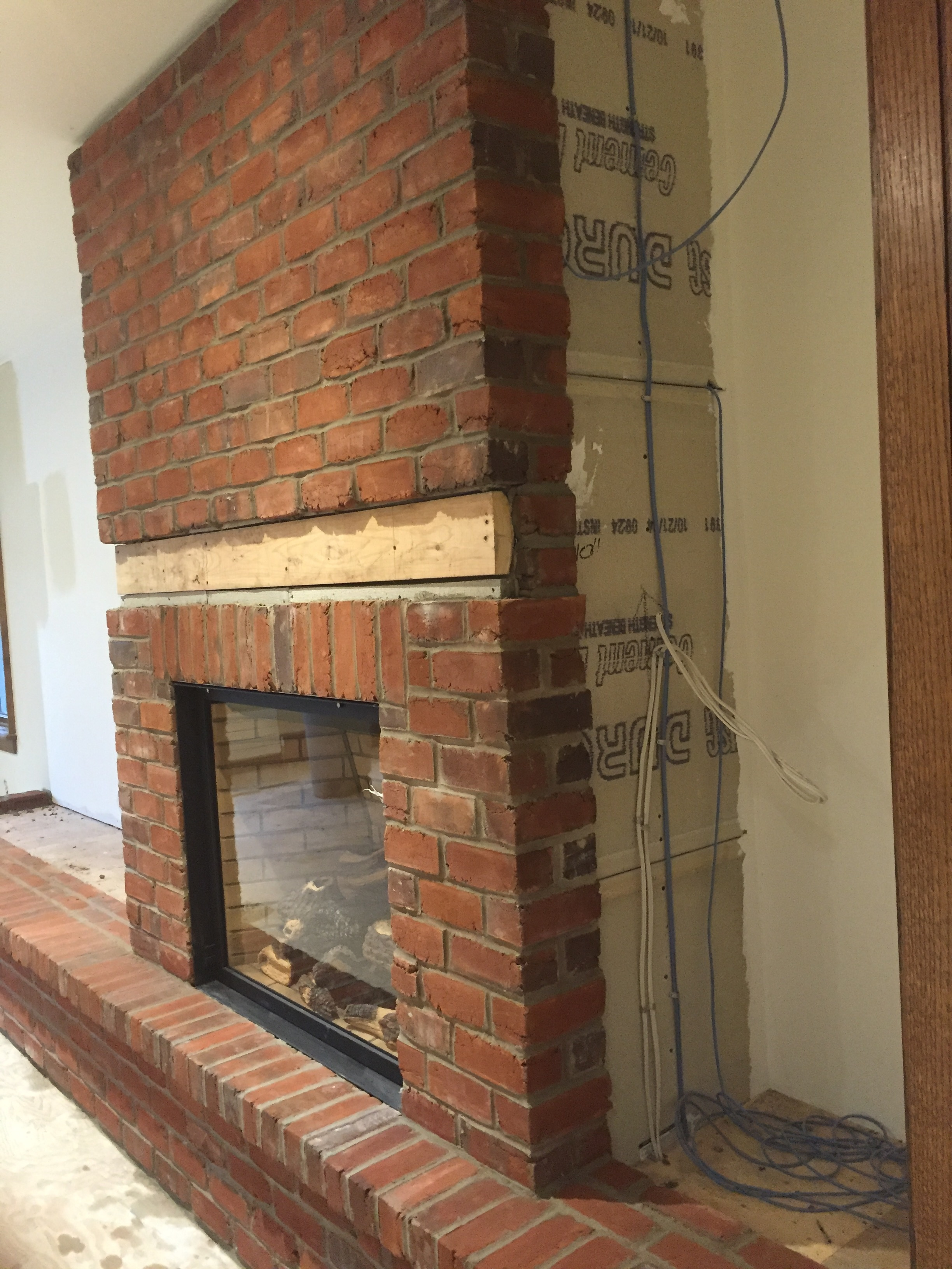 Phenomenal Stone Brick Veneer Fireplaces Bond Masonry Ltd Beutiful Home Inspiration Semekurdistantinfo