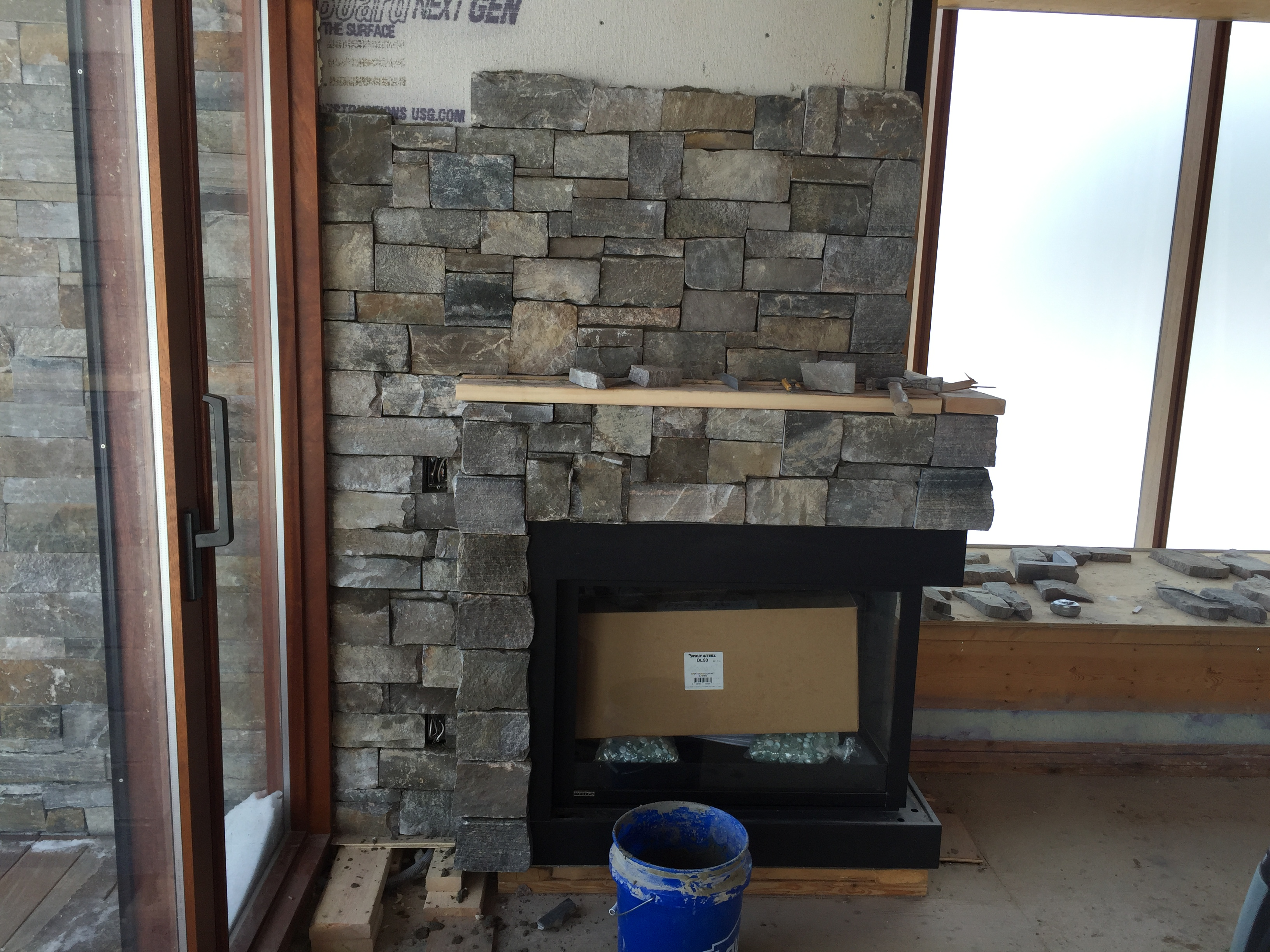 Peachy Stone Brick Veneer Fireplaces Bond Masonry Ltd Beutiful Home Inspiration Semekurdistantinfo